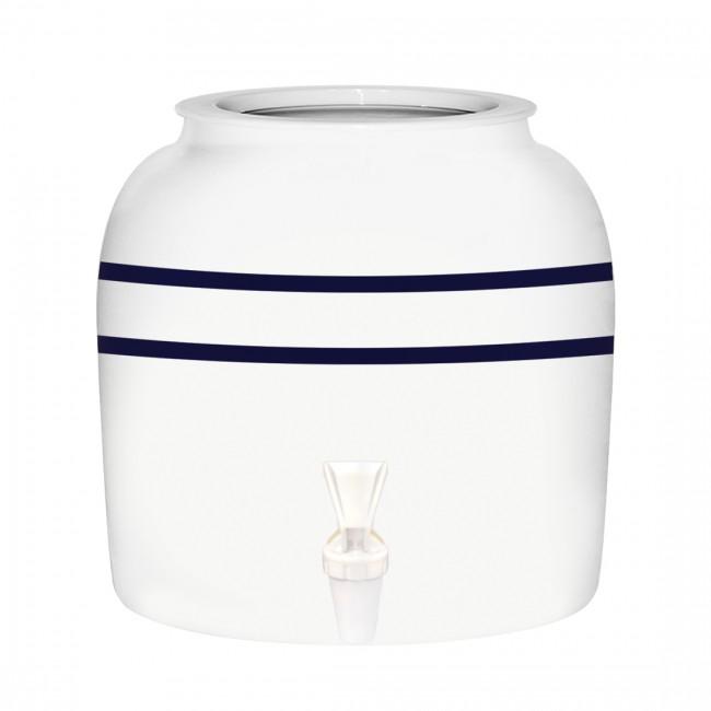 Porcelain Crock - Blue Stripe