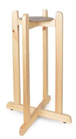 "27"" Green Floor Wood Stand"